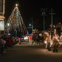Christmas Lighted Tractor Parade