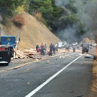 Major 101 Crash North of Willits