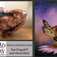 February Featured Artists Tom Kingshill and Annie Reid
