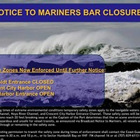 Humboldt Bay Closed as Surf Pummels the Coast