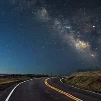 North Coast Night Lights: Dawn Chases the Milky Way