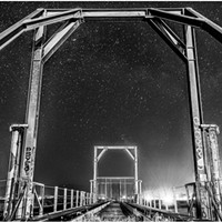North Coast Night Lights: Eureka Slough Railroad Bridge