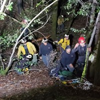 Intense Effort to Rescue Injured Hoopa Forestry Service Worker