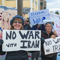 No War With Iran Protest (Photos)
