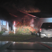 House Fire in McKinleyville Last Night (with video)