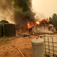 Fully Engulfed Two-Story Building in Fruitland Ridge