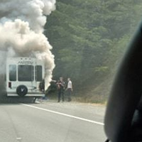[UPDATE 1:53 P.M.: HWY 101] Trailer On Fire Near Salmon Creek Exit in SoHum