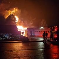 Backyard Shop Destroyed in McKinleyville Fire