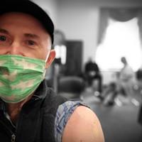 Huffman Gets COVID Vaccine