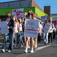 Arcata High Students Walk Out to Stand with Sexual Assault Survivors