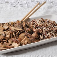 Mushrooms and Tofu