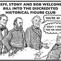 Jeff, Stony and Bob Welcome Bill into the Discredited Historical Figure Club