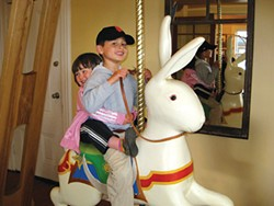 Ice cream and a carousel bunny at Arcata Scoop. - PHOTO BY JENNIFER FUMIKO CAHILL