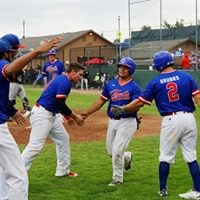 Crabs celebrate one of eight runs on Friday - MATT FILAR