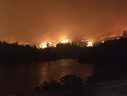 The Carr Fire has spurred widespread evacuation orders in Redding. - CHP/FACEBOOK