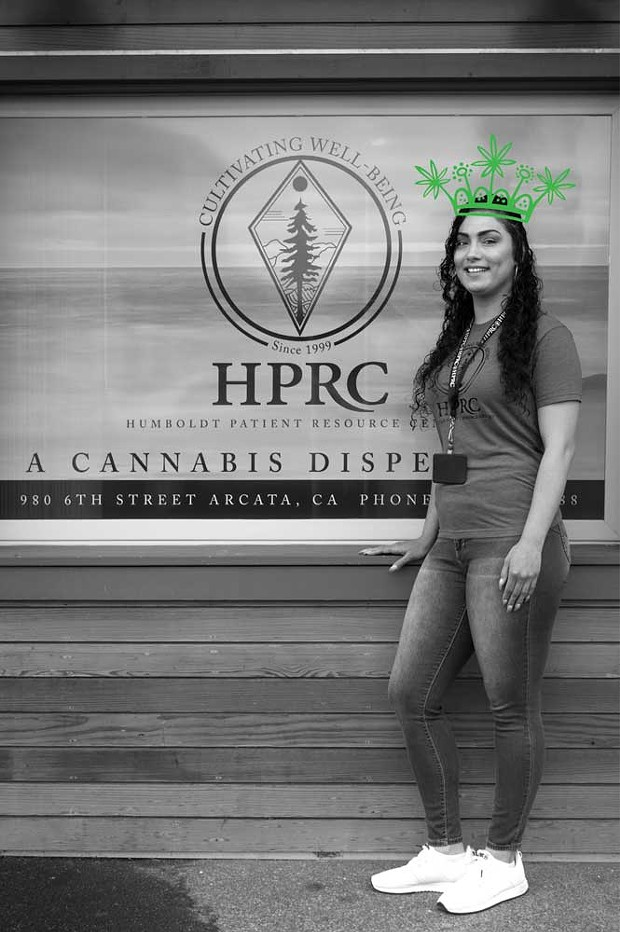 Humboldt's Best Budtender Michelle Seelye, who works the counter at Humboldt Patient Resource Center. - AMY WALDRIP