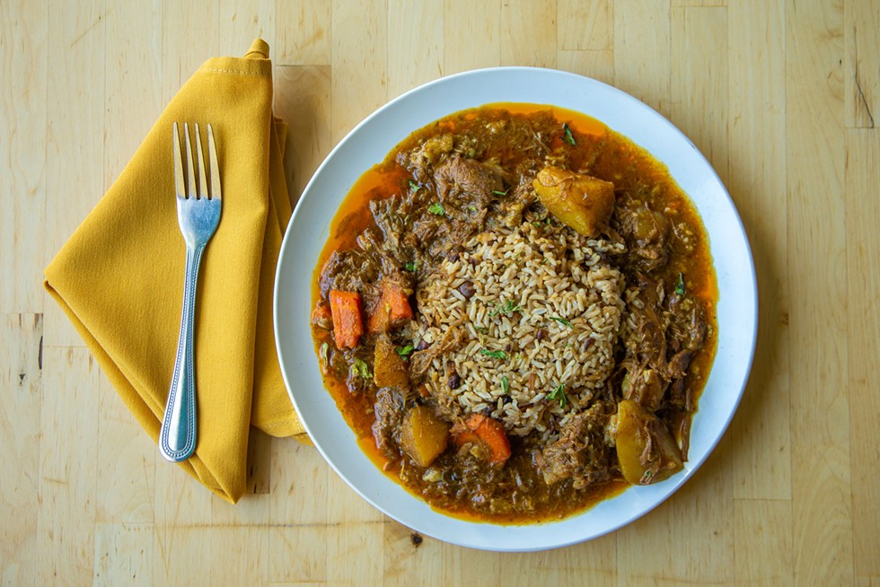 Friday, Saturday and Sunday's goat curry. - AMY KUMLER