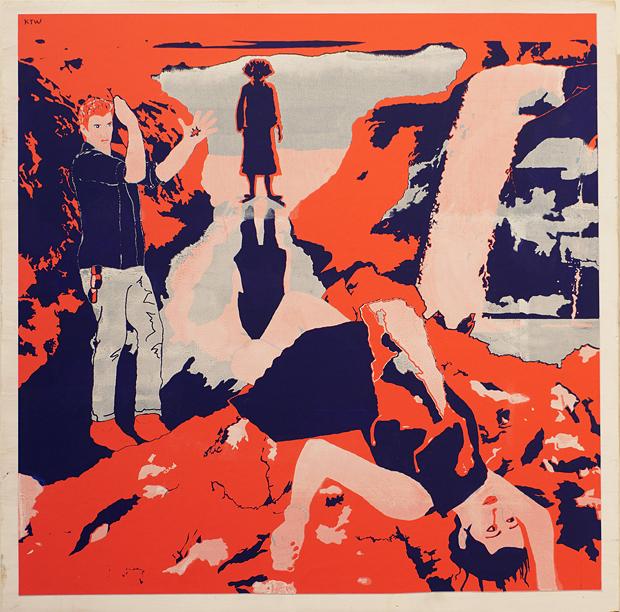 "Katy Warner's ""Murder of Miho,"" silkscreen mounted on wood, 2018. - COURTESY OF THE ARTIST"