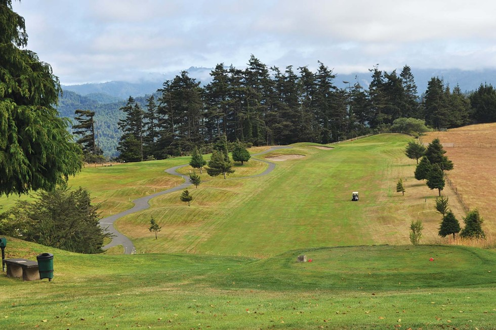 Looking down the 12th fairway at Redwood Empire Golf and Country Club in Fortuna. - The 13th hole is on the left. - PHOTO BY PAMELA LONG