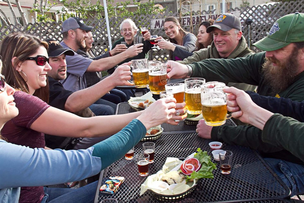 Cheers to the sun at Mad River Brewing Company. - TERRENCE MCNALLY