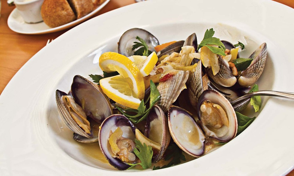 Manila clams at the Carter House Restaurant 301. - TERRENCE MCNALLY