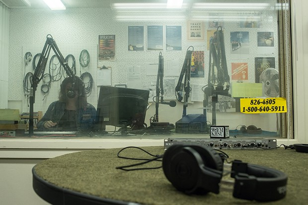 View inside the DJ booth. - ALEXANDER WOODARD.