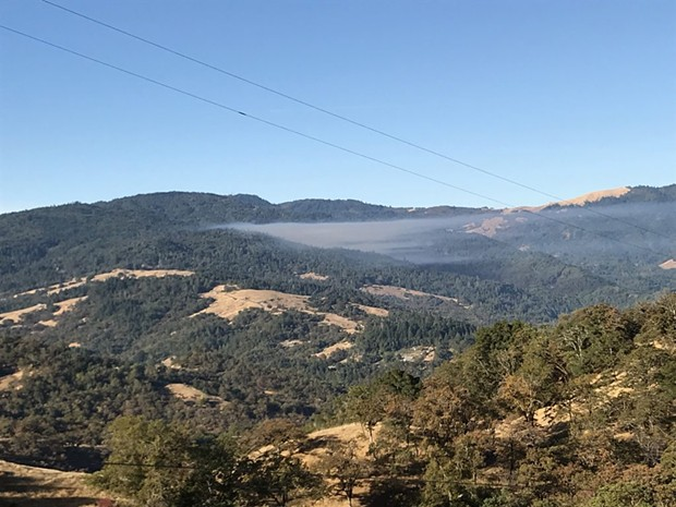 Smoke from the fire west of Alderpoint. - SUBMITTED