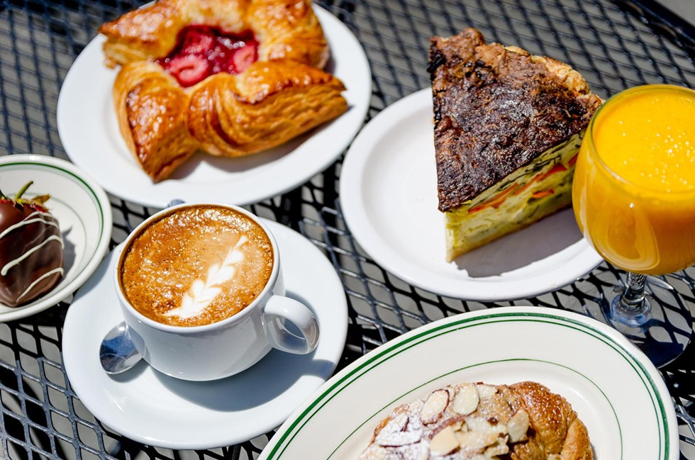 House-made pasteries, quiche, a cappucino and a fresh-squeezed mimosa from Cafe Brio. - CHUCK JOHNSON
