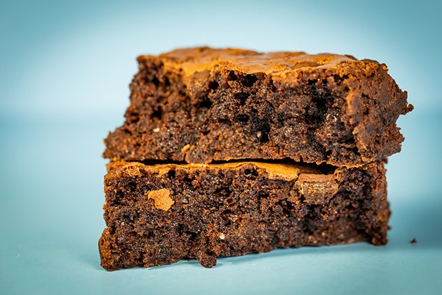 Fat, fudgy brownie goodness. - PHOTO BY SAM ARMANINO