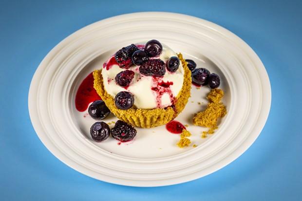 Tiny, fluffy, crumbly cheesecake. - PHOTO BY SAM ARMANINO
