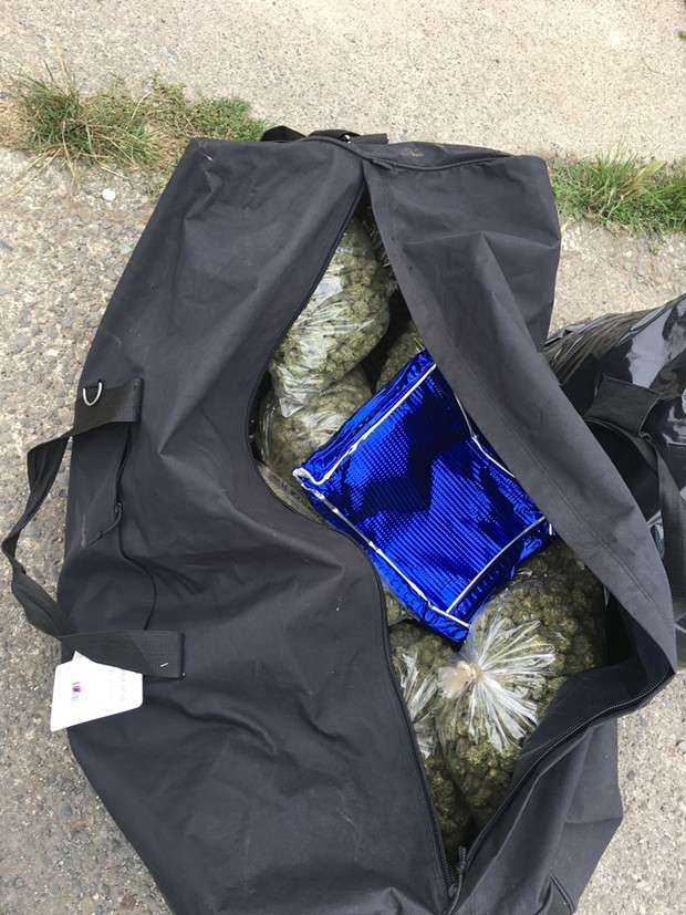 Fifty-two pounds of marijuana was found at the scene. - HCSO