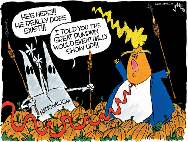 """""""I told you the Great Pumpkin would eventually show up."""" - CLAY JONES"""