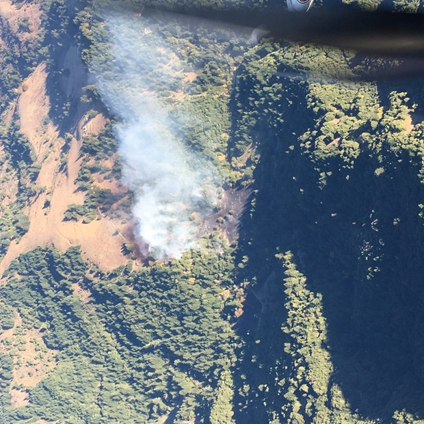 Aerial view of the Mattole Fire. - CAL FIRE