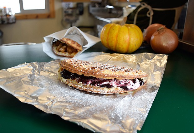The cream cheese and blackberry jammy Blackout. - PHOTO BY JENNIFER FUMIKO CAHILL
