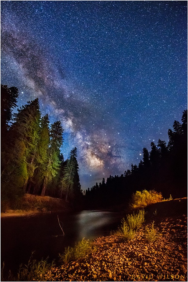 South Fork Eel River beneath the Milky Way at the California Federation of Women's Clubs Grove on the Avenue of the Giants. - DAVID WILSON
