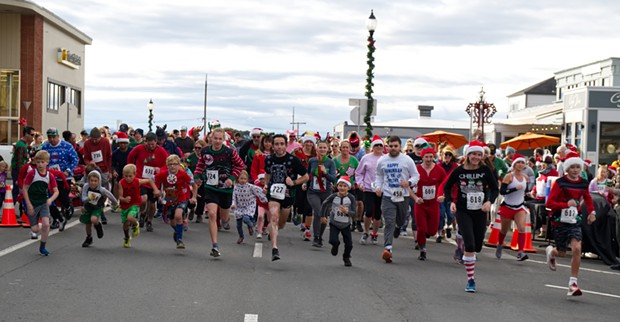 Holiday fashions of the kitsch kind framed the annual Ugly Sweater Fun Run on the Arcata Plaza Dec. 9. The uniquely curious walk/run benefits the Humboldt Educare Preschool. - MATT FILAR