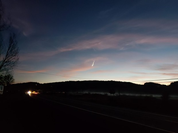 Residents across California watched what may have been a meteor streak across the sky on Wednesday night. - PHOTO BY STEVE HENCZ