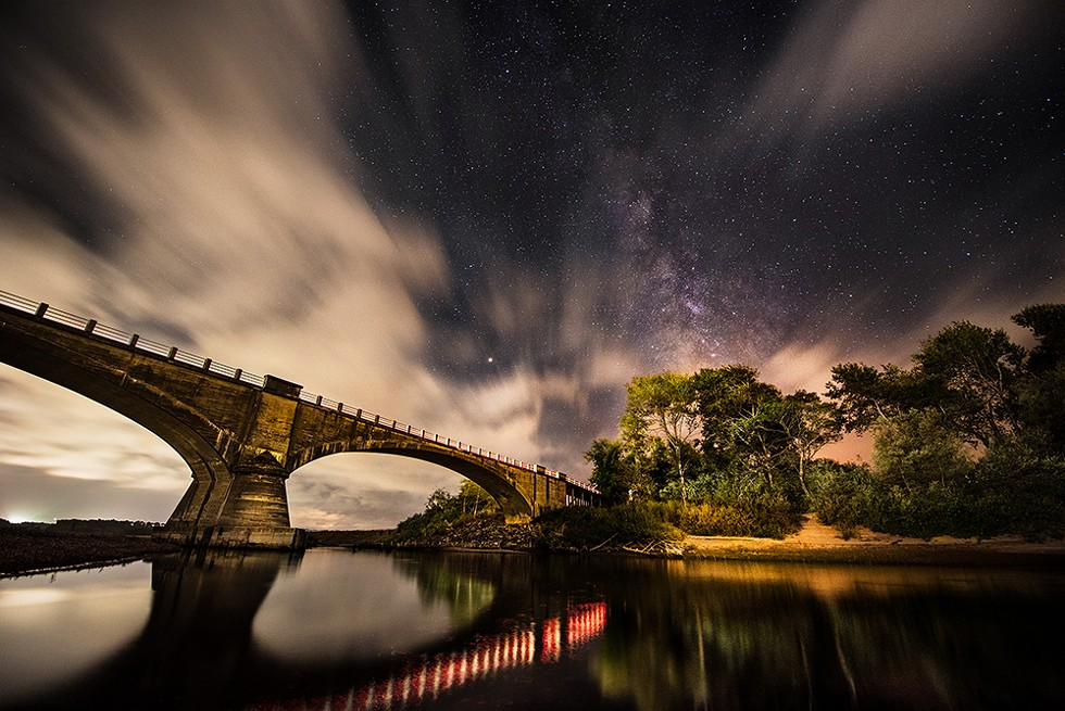 Fernbridge beneath windswept clouds and the Milky Way. September 11, 2018. - PHOTO B Y DAVID WILSON