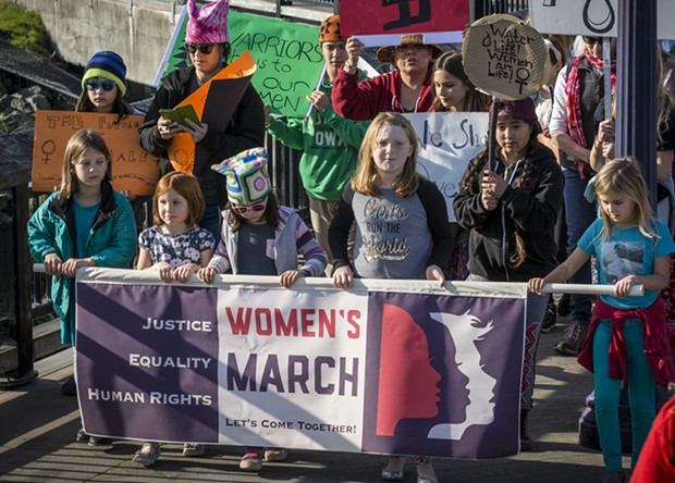 January – The second-annual Women's March in Eureka again drew large crowds protesting national politics and politicians on Saturday, Jan. 20. - MARK LARSON