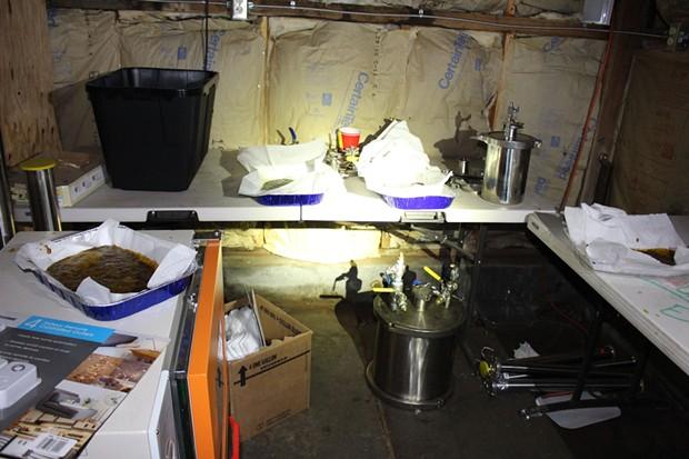 Hash lab found at the Samoa site. - HCSO