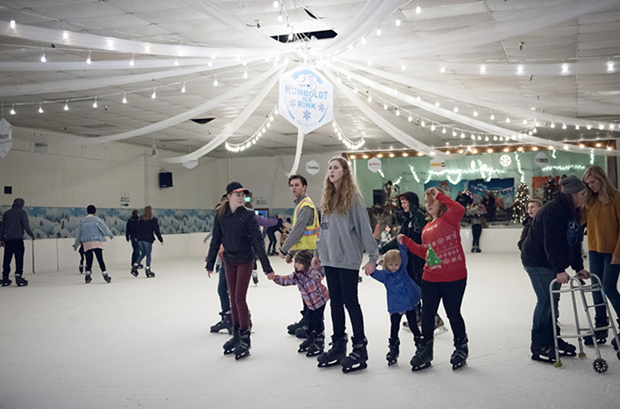 Out on the ice in Ferndale on Sunday. - PHOTO BY MARK MCKENNA