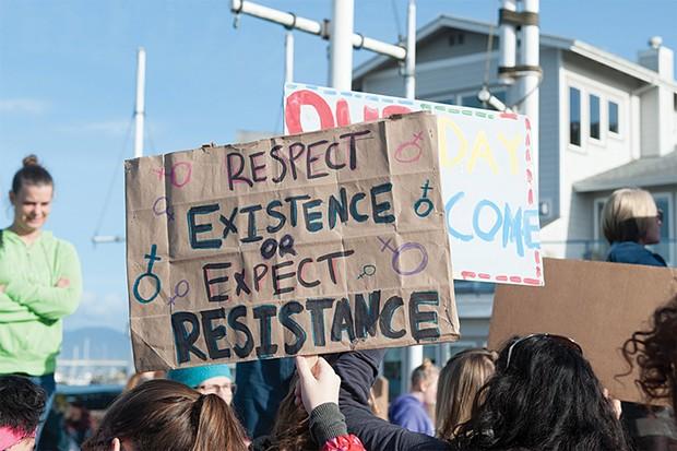 Eureka Women's March - PHOTO BY MARK MCKENNA