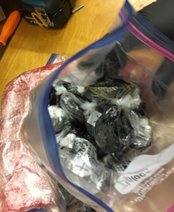Heroin seized in a bust Friday in Arcata. - HUMBOLDT COUNTY DRUG TASK FORCE
