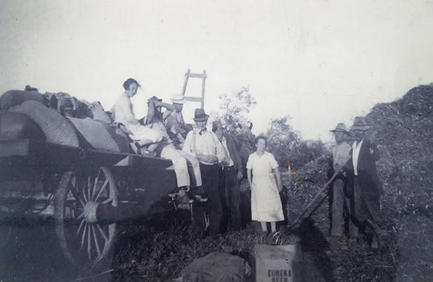 Paul Giuntoli's grandmother Mary Pifferini with the family in 1936. - COURTESY OF PAUL GIUNTOLI