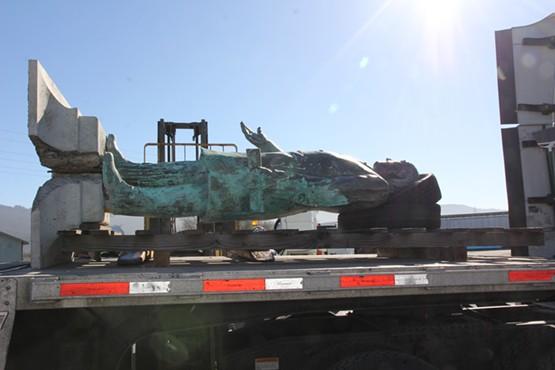 McKinley lies ready to make the trip to Canton, Ohio. - COURTESY OF THE CITY OF ARCATA