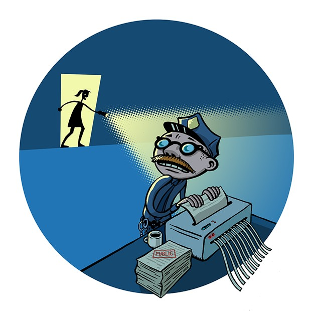 The Preemptive Shredding Award - Inglewood Police Department - ILLUSTRATION BY HUGH D'ANDRADE (CC BY)