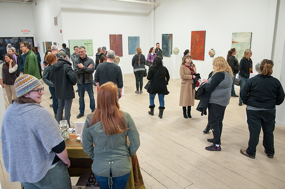 April Arts Alive! night at Black Faun Gallery. - PHOTO BY MARK MCKENNA.
