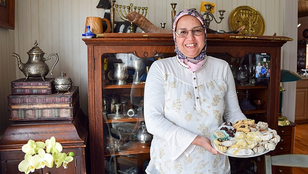 Jmiaa El Hessni with her cookies. - PHOTO BY JENNIFER FUMIKO CAHILL