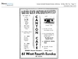 1959 Canton Cafe menu - COURTESY OF DON CHIN