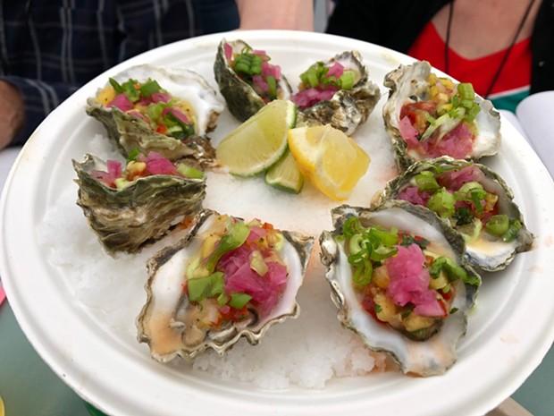Fregoso's Comida Mexicana's winning raw oysters. - PHOTO BY JENNIFER FUMIKO CAHILL